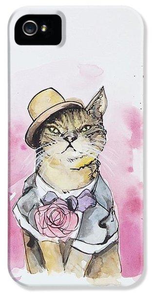 Mr Cat In Costume IPhone 5 / 5s Case by Venie Tee