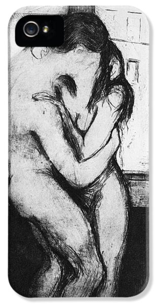 Back iPhone 5 Cases - Munch: The Kiss, 1895 iPhone 5 Case by Granger