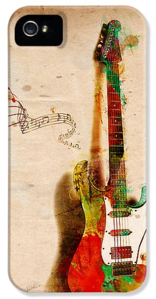 Music iPhone 5 Cases - My Guitar Can SING iPhone 5 Case by Nikki Smith