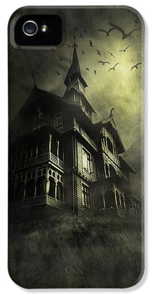 Halloween iPhone 5 Cases - Mystery light iPhone 5 Case by Svetlana Sewell