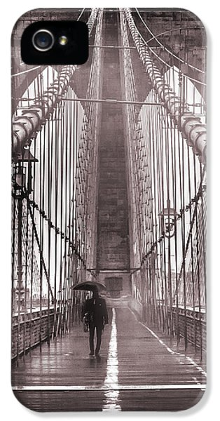 Cable iPhone 5 Cases - Mystery Man Of Brooklyn iPhone 5 Case by Az Jackson