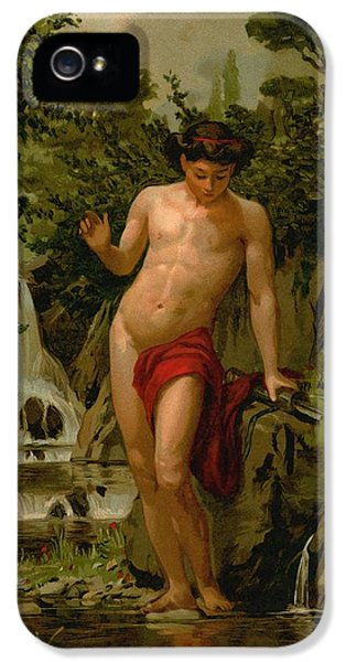 Narcissus In Love With His Own Reflection IPhone 5 / 5s Case by Dionisio Baixeras-Verdaguer