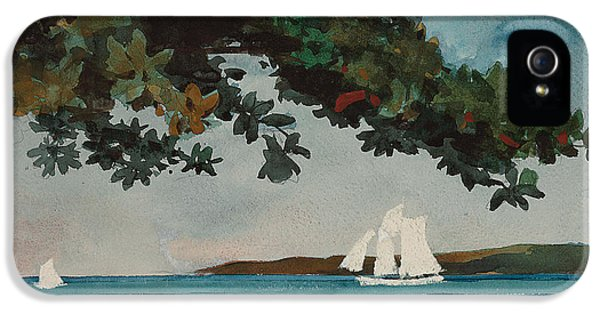 Homer iPhone 5 Cases - Nassau   Water and Sailboat iPhone 5 Case by Winslow Homer