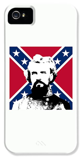 Forrest iPhone 5 Cases - Nathan Bedford Forrest and The Rebel Flag iPhone 5 Case by War Is Hell Store