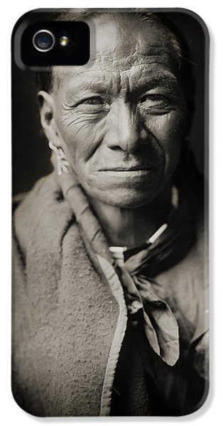 Native American iPhone 5 Cases - Native American Taos Indian White Clay iPhone 5 Case by The  Vault - Jennifer Rondinelli Reilly