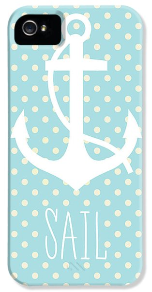 Nautical Anchor Art Print IPhone 5 / 5s Case by Taylan Apukovska