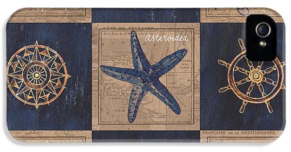 Nautical Burlap IPhone 5 / 5s Case by Debbie DeWitt