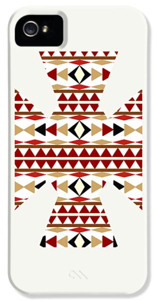 Navajo White Pattern Art IPhone 5 / 5s Case by Christina Rollo