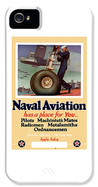 Americana iPhone 5 Cases - Naval Aviation Has A Place For You iPhone 5 Case by War Is Hell Store