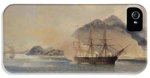 July iPhone 5 Cases - Naval Battle of the Strait of Shimonoseki iPhone 5 Case by Jean Baptiste Henri Durand Brager
