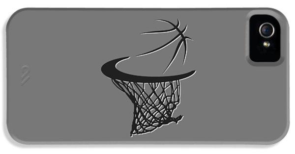Net iPhone 5 Cases - Nets Basketball Hoop iPhone 5 Case by Joe Hamilton