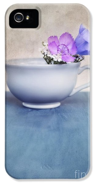 Still Life iPhone 5 Cases - New Life For An Old Coffee Cup iPhone 5 Case by Priska Wettstein