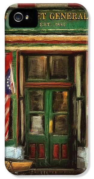 Store Front iPhone 5 Cases - New Market General Store iPhone 5 Case by Lois Bryan