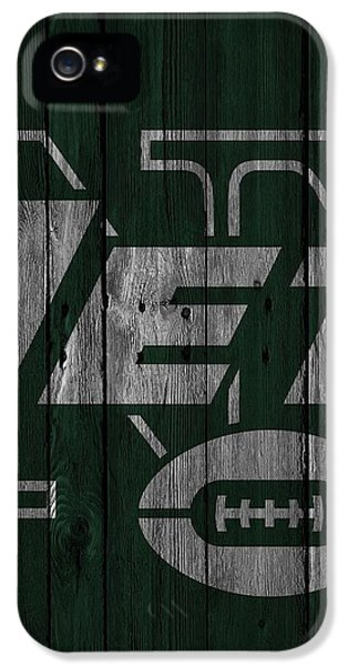 New York Jets Wood Fence IPhone 5 / 5s Case by Joe Hamilton