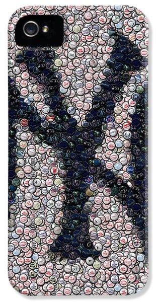 New York Yankees Bottle Cap Mosaic IPhone 5 / 5s Case by Paul Van Scott