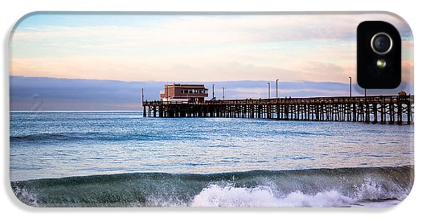 Newport Beach iPhone 5 Cases - Newport Beach CA Pier at Sunrise iPhone 5 Case by Paul Velgos