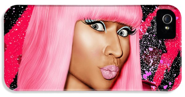 Nicki Minaj iPhone 5 Cases - Nicki Minaj iPhone 5 Case by Davonte Bailey