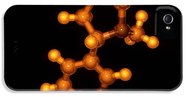 Molecular Graphic iPhone 5 Cases - Nicotine Molecule iPhone 5 Case by Laguna Design