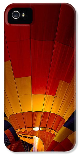 Balloon iPhone 5 Cases - Night Flight iPhone 5 Case by Mike  Dawson