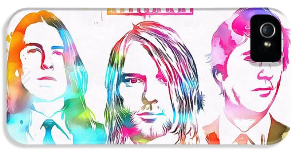 Dave Grohl iPhone 5 Cases - Nirvana Watercolor Paint Splatter iPhone 5 Case by Dan Sproul