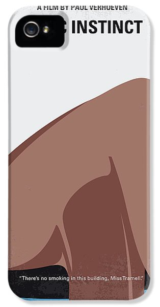 No007 My Basic Instinct Minimal Movie Poster IPhone 5 / 5s Case by Chungkong Art