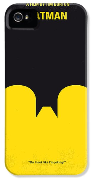 Crime Drama Movie iPhone 5 Cases - No008 My Batman minimal movie poster iPhone 5 Case by Chungkong Art