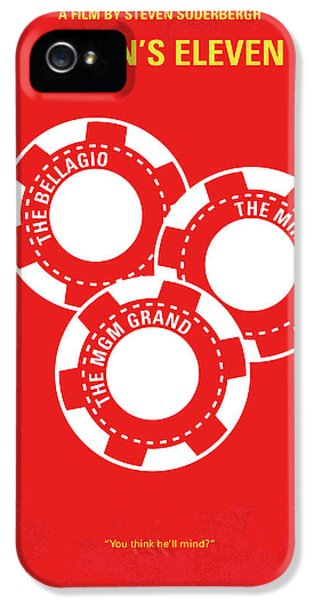 Crime Drama Movie iPhone 5 Cases - No056 My Oceans 11 minimal movie poster iPhone 5 Case by Chungkong Art