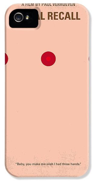 Sci Fi Art iPhone 5 Cases - No097 My Total Recall minimal movie poster iPhone 5 Case by Chungkong Art