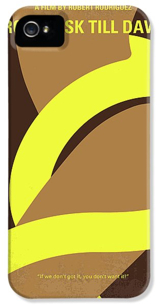 Harvey Keitel iPhone 5 Cases - No127 My FROM DUSK THIS DAWN minimal movie poster iPhone 5 Case by Chungkong Art