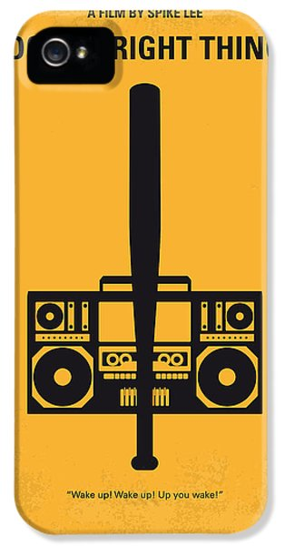 Hip Hop iPhone 5 Cases - No179 My Do the right thing minimal movie poster iPhone 5 Case by Chungkong Art