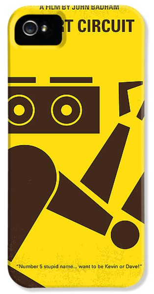 Circuits iPhone 5 Cases - No470 My Short Circuit minimal movie poster iPhone 5 Case by Chungkong Art