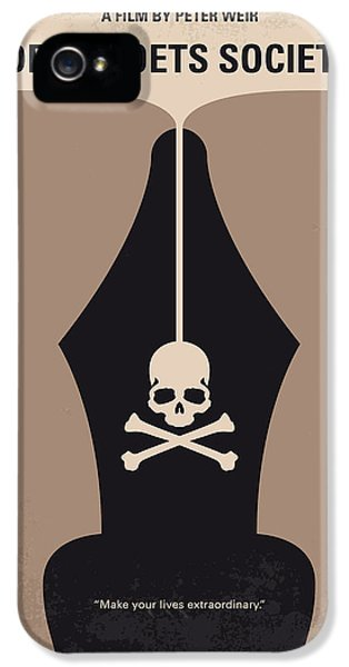 Dead iPhone 5 Cases - No486 My Dead Poets Society minimal movie poster iPhone 5 Case by Chungkong Art