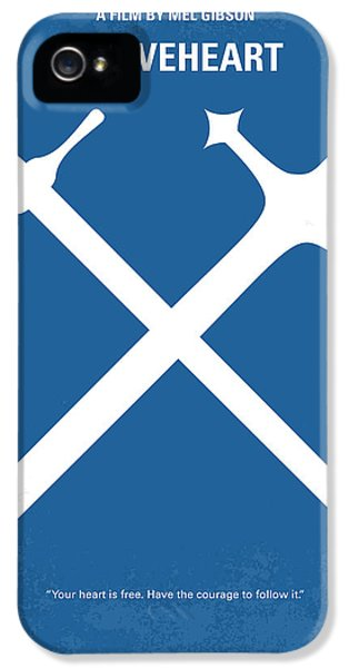 No507 My Braveheart Minimal Movie Poster IPhone 5 / 5s Case by Chungkong Art
