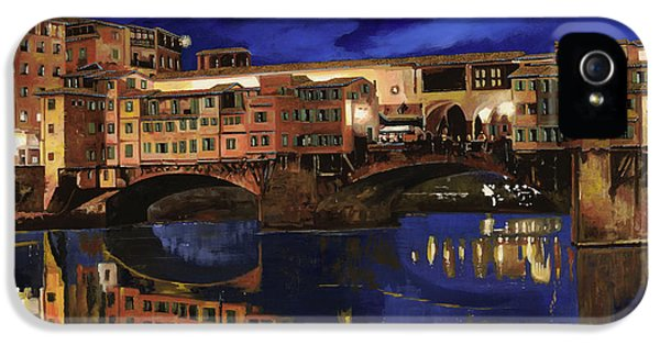 Romantic iPhone 5 Cases - Notturno Fiorentino iPhone 5 Case by Guido Borelli