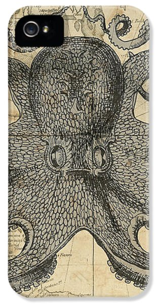Octopus Sea Chart IPhone 5 / 5s Case by Erin Cadigan