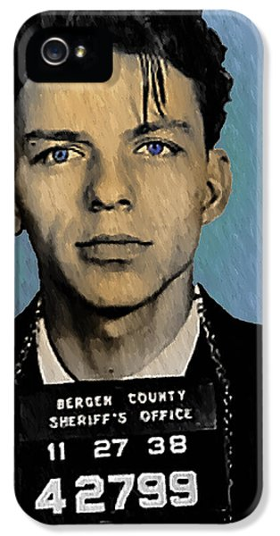 Old Blue Eyes - Frank Sinatra IPhone 5 / 5s Case by Bill Cannon
