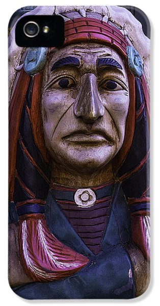 American Western iPhone 5 Cases - Old Cigar Store Indian iPhone 5 Case by Garry Gay