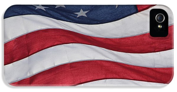 Red White And Blue iPhone 5 Cases - Old Glory iPhone 5 Case by Lauri Novak