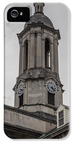 Old Main Penn State Clock  IPhone 5 / 5s Case by John McGraw