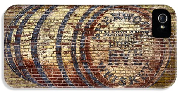 House Md Art iPhone 5 Cases - Old Sherwood Distillery Logo on Former Bonded Warehouse - Westminster Carroll County Maryland iPhone 5 Case by Michael Mazaika