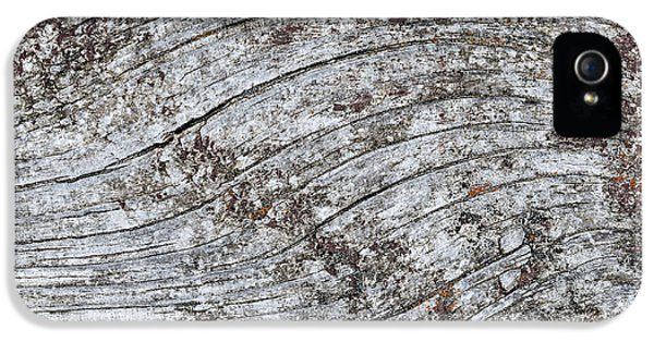 Knot iPhone 5 Cases - Old weathered wood abstract iPhone 5 Case by Elena Elisseeva
