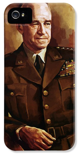 Joint Chiefs iPhone 5 Cases - Omar Bradley iPhone 5 Case by War Is Hell Store