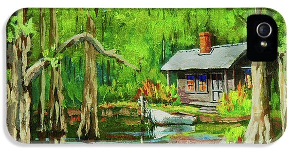 Bayou iPhone 5 Cases - On the Bayou iPhone 5 Case by Dianne Parks