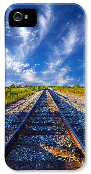 Blue Leaf iPhone 5 Cases - On The Way iPhone 5 Case by Phil Koch