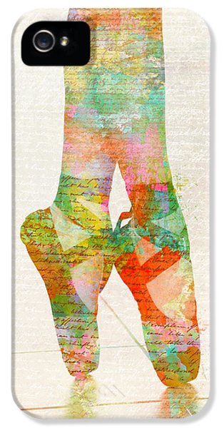Dance iPhone 5 Cases - On Tippie Toes iPhone 5 Case by Nikki Marie Smith