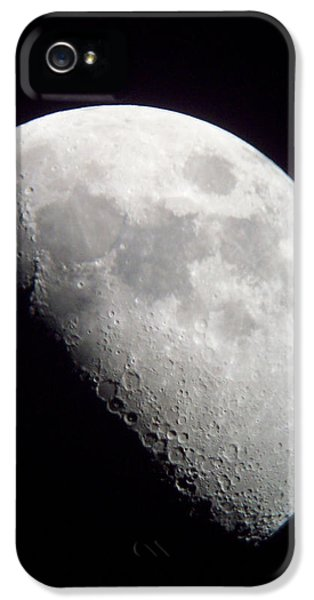 Lunacy iPhone 5 Cases - One Day Past Quarter Moon iPhone 5 Case by Roy Kaelin