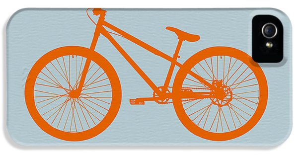Mid iPhone 5 Cases - Orange Bicycle  iPhone 5 Case by Naxart Studio