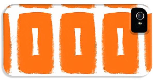 Orange Boxes- Art By Linda Woods IPhone 5 / 5s Case by Linda Woods