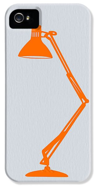 Mid iPhone 5 Cases - Orange Lamp iPhone 5 Case by Naxart Studio