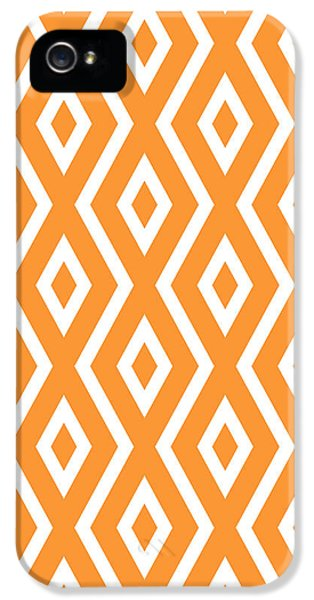 Orange Pattern IPhone 5 / 5s Case by Christina Rollo